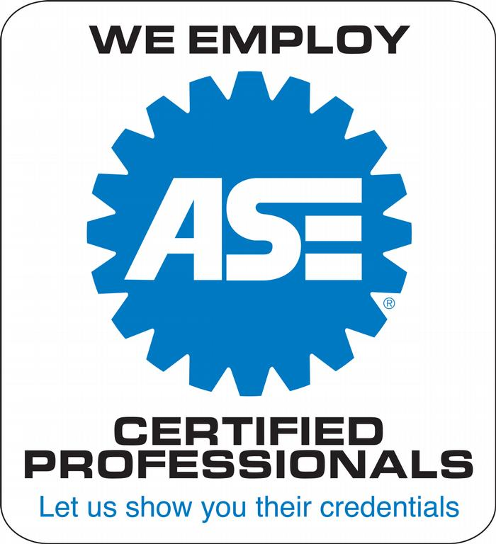 ASE Employed techs badge